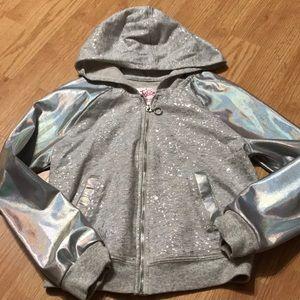 Justice Girls full zip hoodie size 8